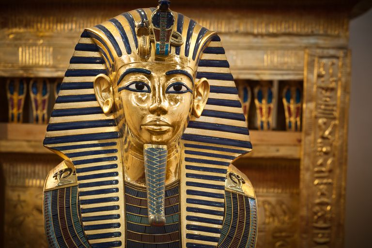 The funerary mask of Tutankhamun.