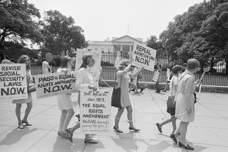 NOW Members Picket The White House