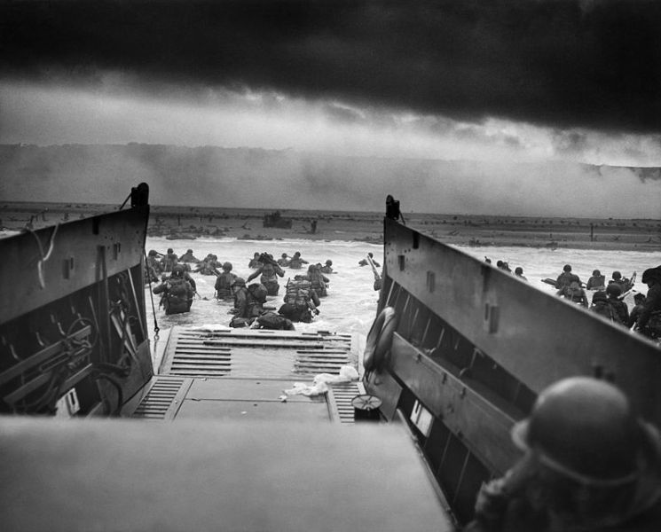 Us Trland On Omaha Beach During D Day June 6 1944 P Ograph Courtesy Of The National Archives Records Administration