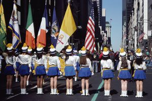 St. Patrick's Day parade on Fifth Avenue in NYC