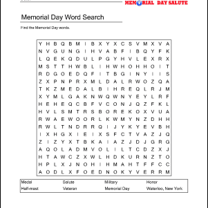 Outstanding Memorial Day Wordsearch Crossword Puzzle And More Download Free Architecture Designs Jebrpmadebymaigaardcom