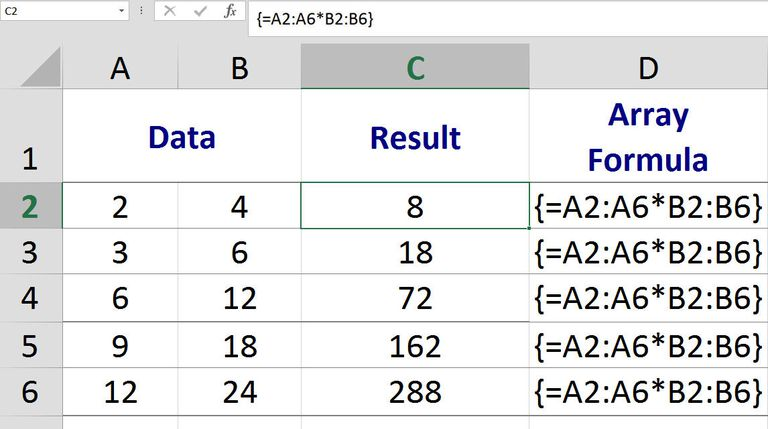 excel multi cell array formula calculations