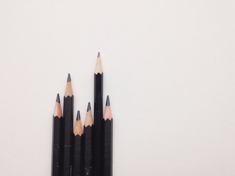 Wooden Pencils In Row