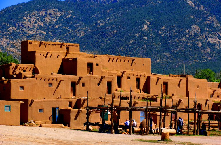 The Taos Pueblo on a sunny day.