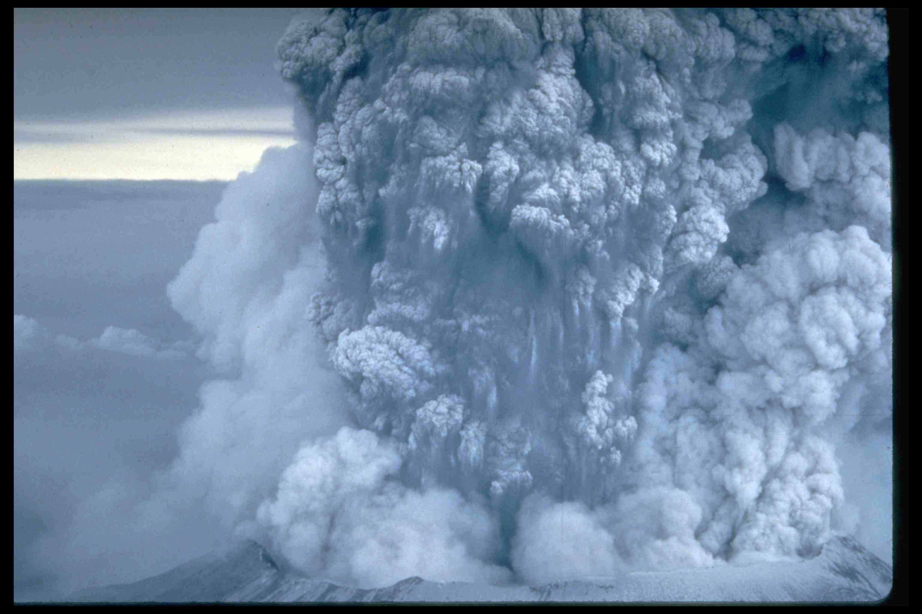 The eruption of Mt. St. Helens on May 18, 1980 blew millions of tons of ash and gas into the air. It resulted in several deaths, catastrophic flooding, fires, the destruction of nearby forests and buildings, and scattered ash for hundreds of miles around.