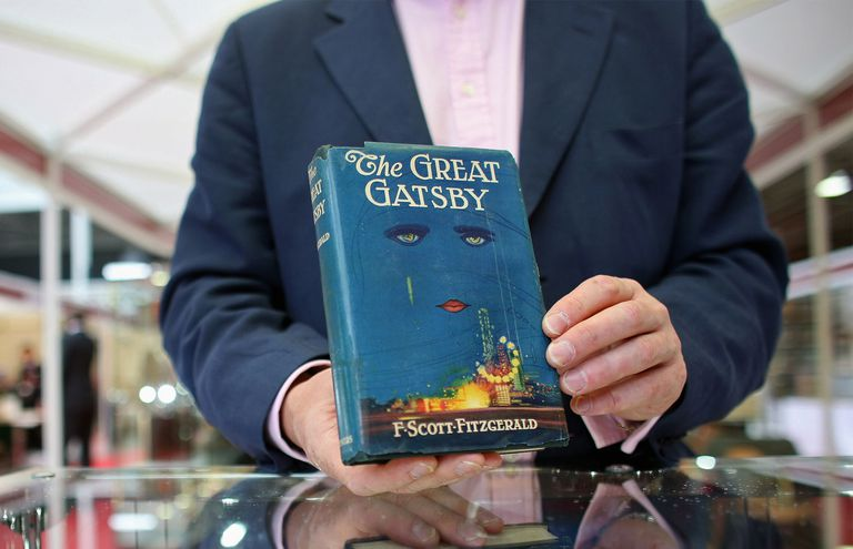 A first edition of F. Scott Fitzgerald's 'The Great Gatsby'