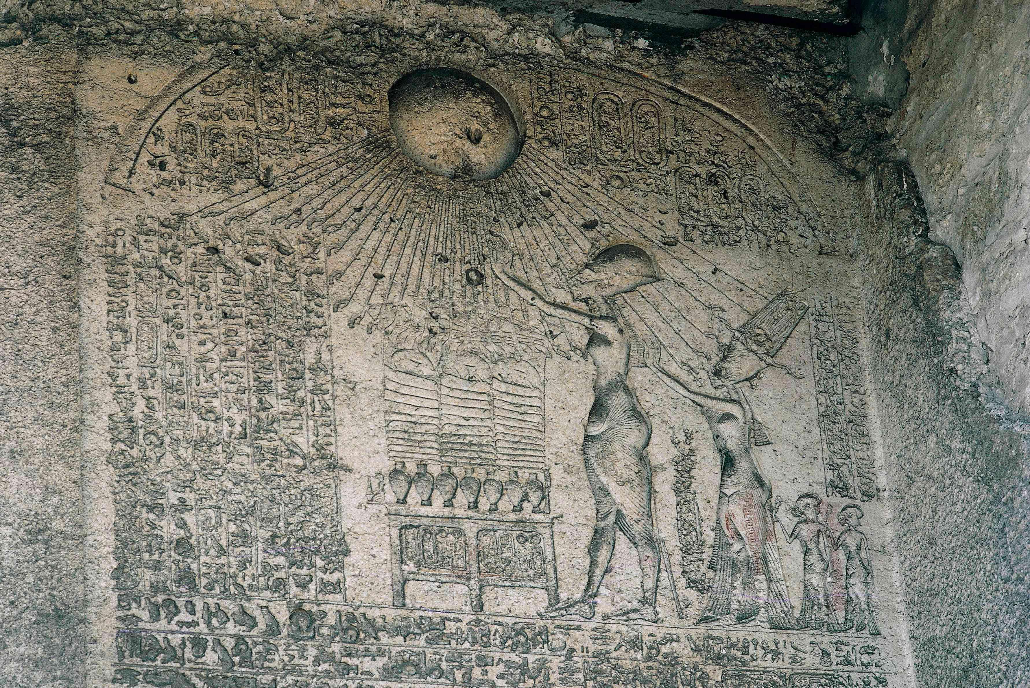 Akhenaten and Nefertiti at Amarna