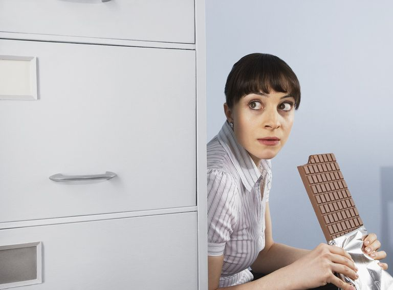 overeating food addiction woman