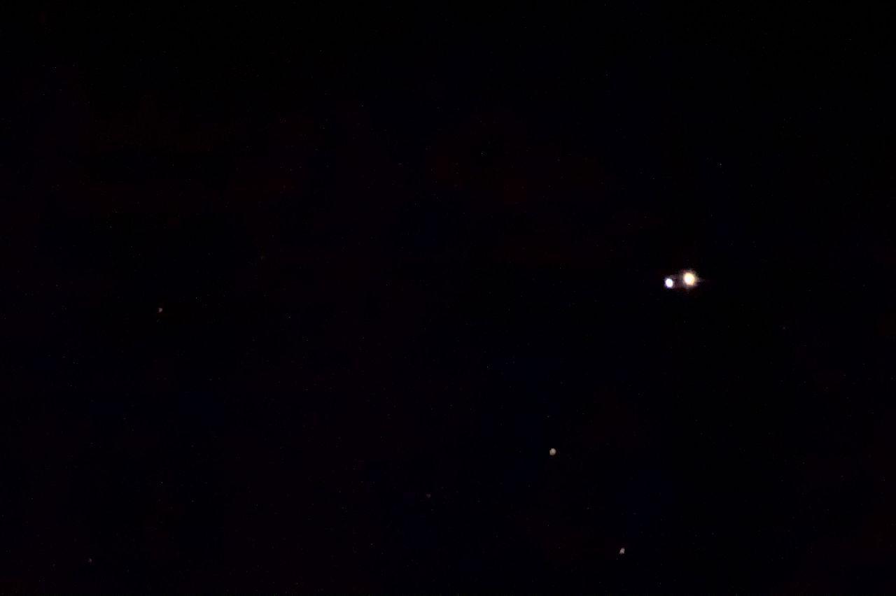 The double star Albireo in Cygnus.