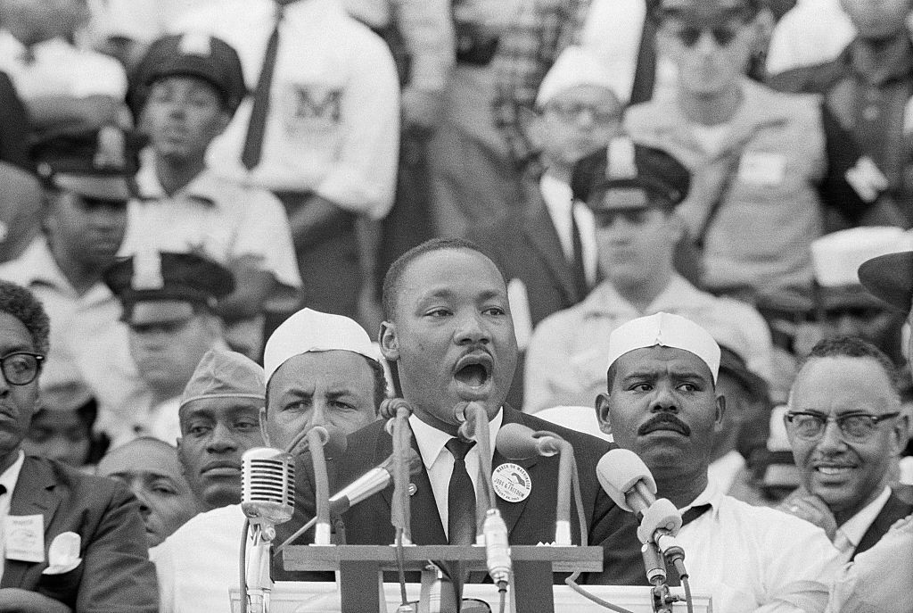 Dr. Martin Luther King, Jr. delivers his famous