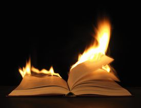 Image of a burning book