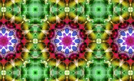 Abstract floral pattern, kaleidoscope effect