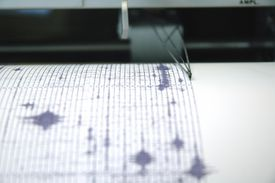Purple Seismograph A seismograph records