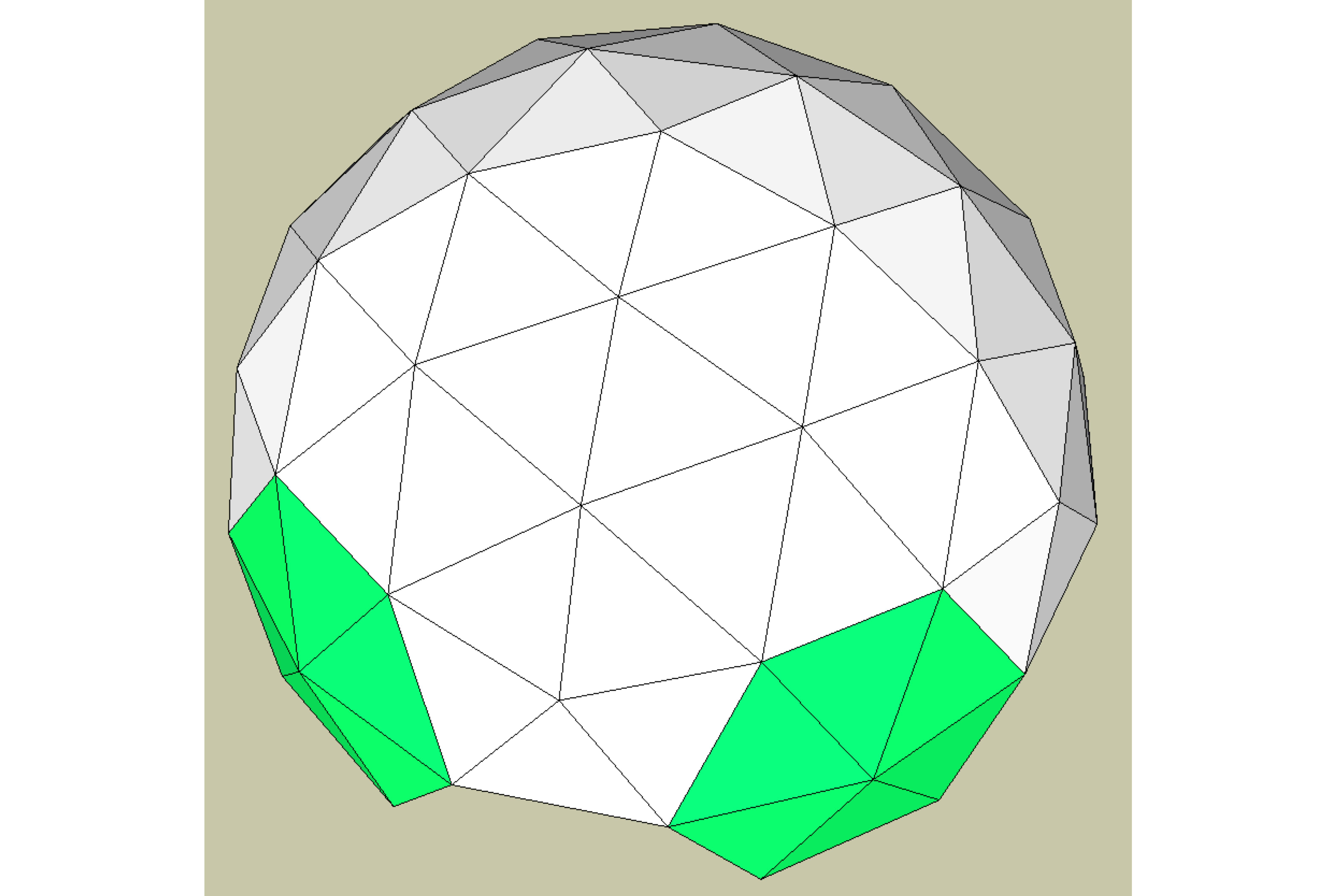 how to build a geodesic dome model
