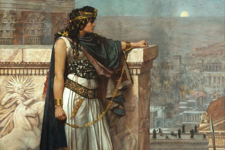 Painting depicting Zenobia