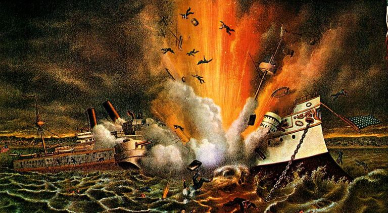 USS Maine exploded at Havana