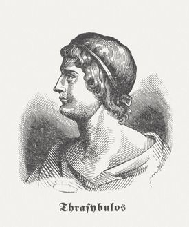 Wood engraving of Thrasybulus, published in 1864