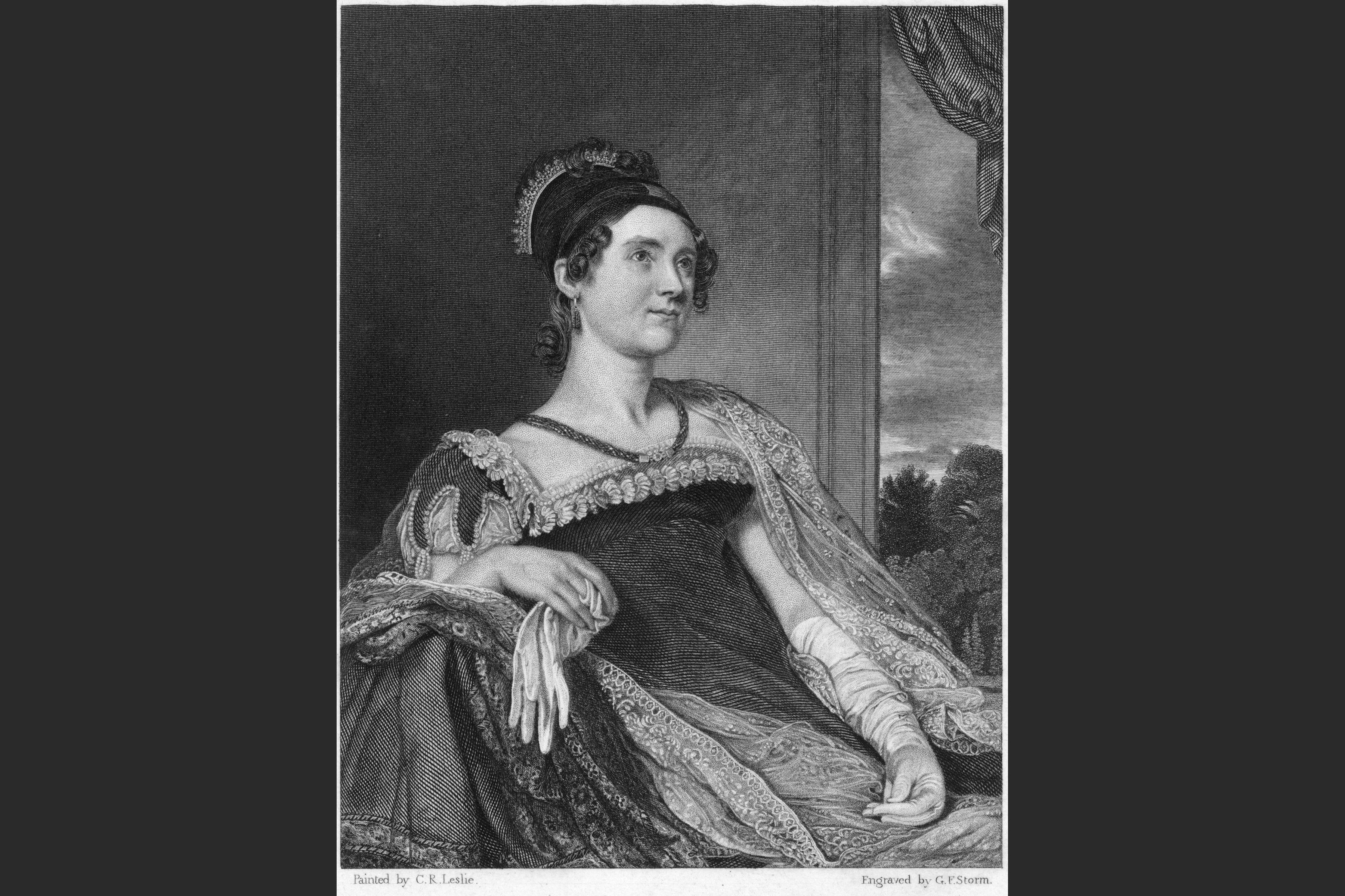 Abigail Adams Wife Of American President John Adams Stock Illustration