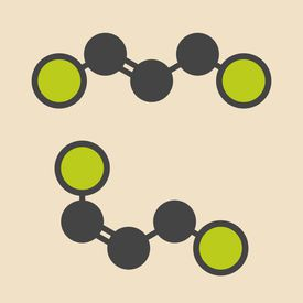Acephate insecticide molecule, displaying geometric isomerism.