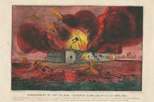 Bombardment of Fort Pulaski, Cockspur Island, Geo. 10th & 11th of April 1862