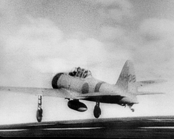Zero leaving for Pearl Harbor