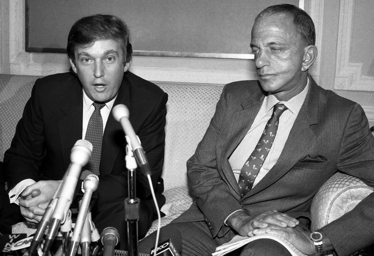 Photograph of Roy Cohn and Donald Trump