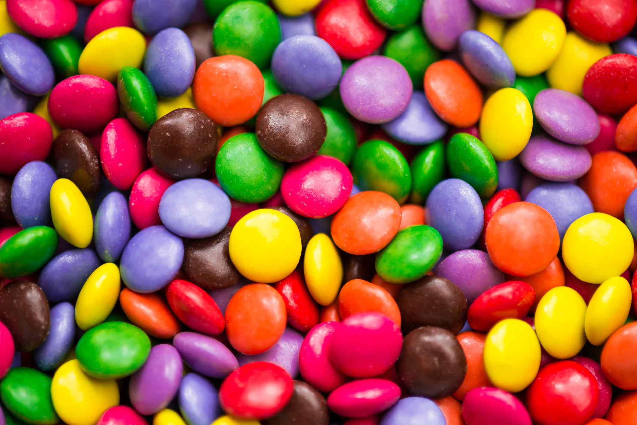 Close-up of multicolored candies