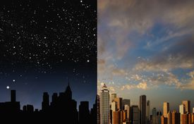 night-day sky