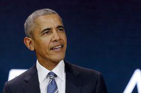 Former US President Barack Obama delivers a speech