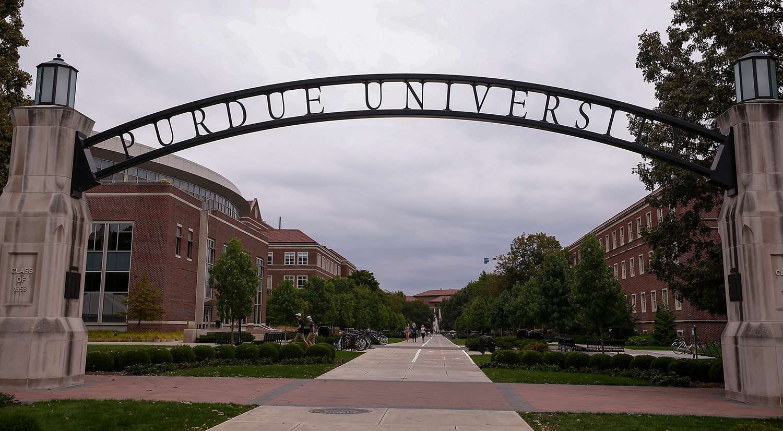 General view of Purdue Boilermakers campus .