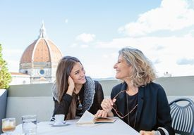 Mom and daughter in Florence