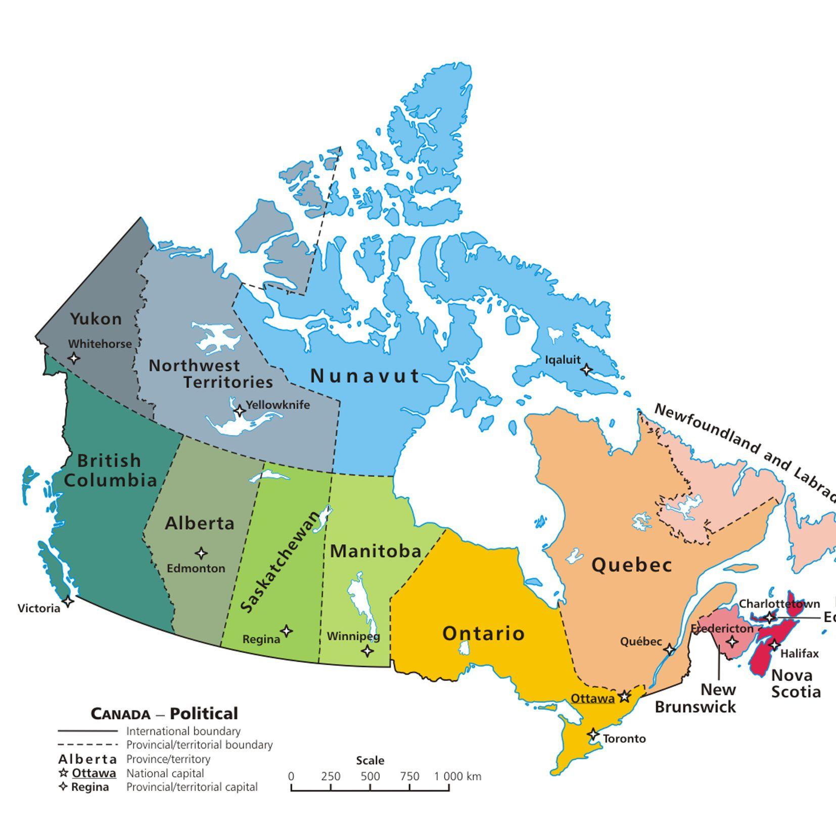 Map Of Canada Nova Scotia.Canadian Provinces And The Confederation