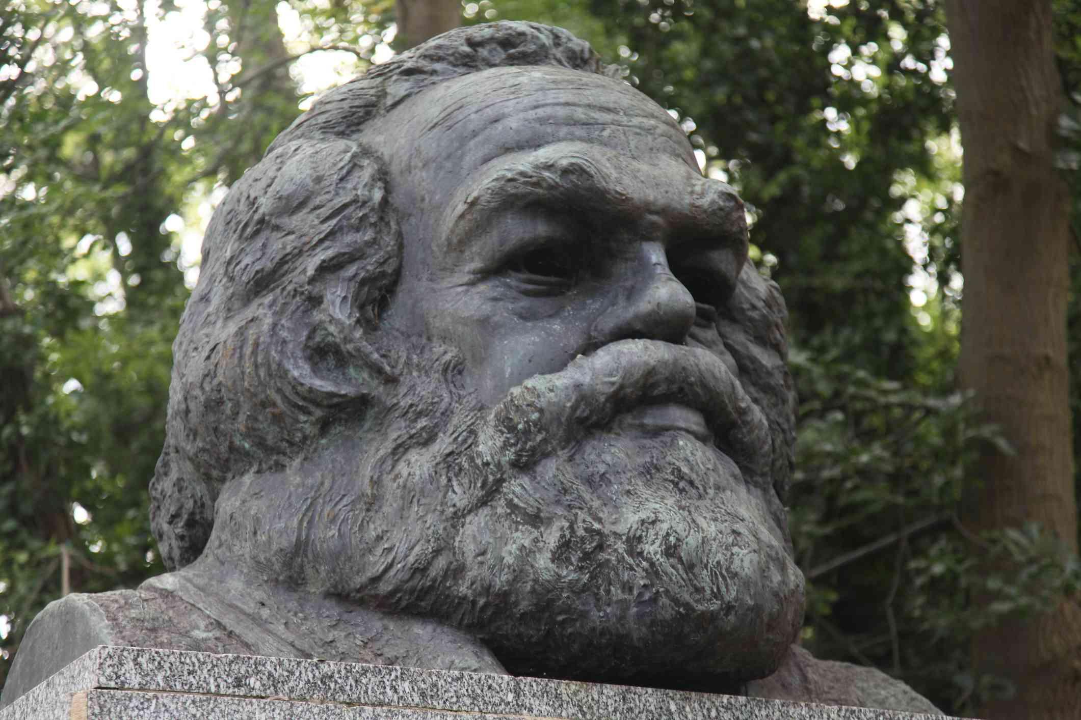 Sculpture of Karl Marx
