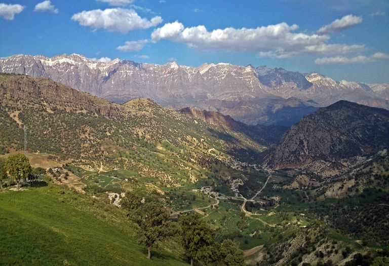Dena mountain in the Zagros mountains.