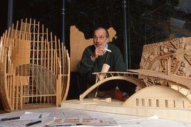 Italian Architect Renzo Piano in his Punta Nave workshop