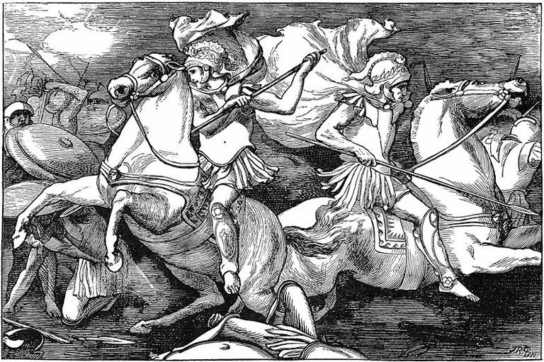 Castor and Pollux Fighting in the Battle of Lake Regillus