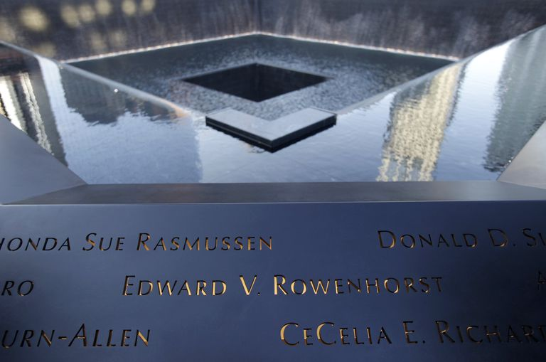 Bronze Panels are Backlit to Illuminate the Names of Terror Victims