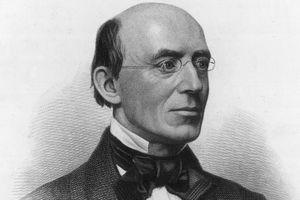 Engraved portrait of abolitionist William Lloyd Garrison
