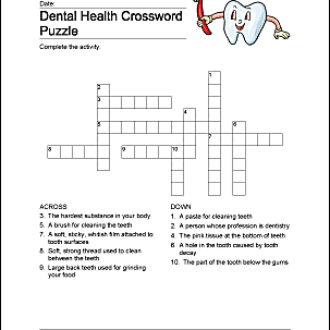 Dental Health Word Search Printables