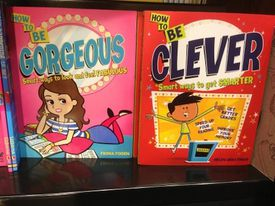 Two books. One has a female character on the front and is titled