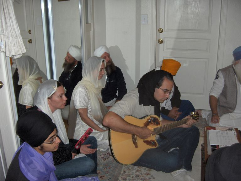 Expectant Parents Sing Hymns of Gurbani Kirtan