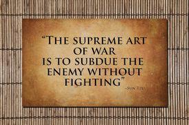 The supreme art of war