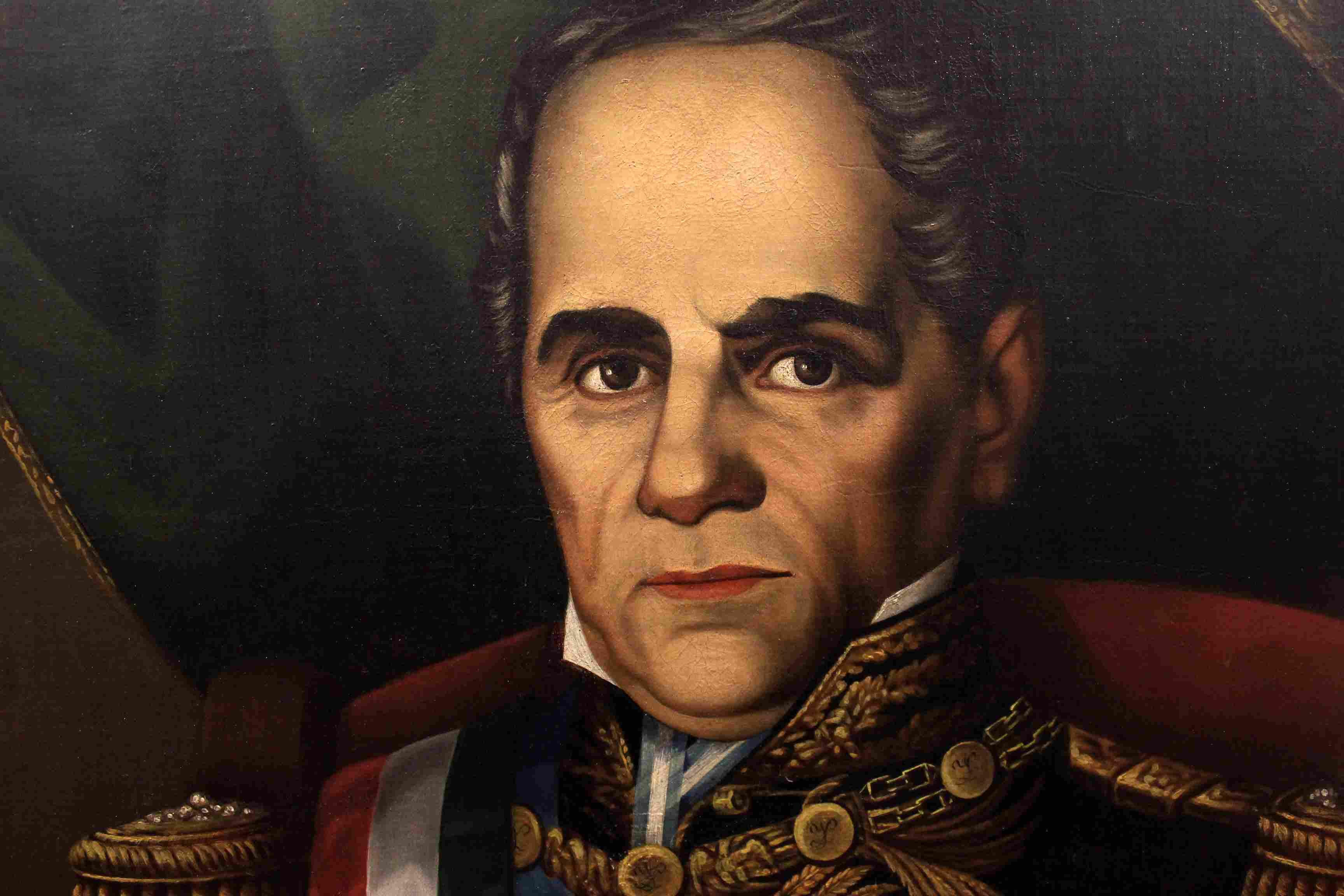 Painting of General Antonio Lopez de Santa Anna