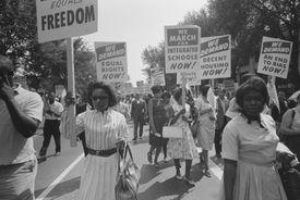 A demonstration against segregated schools