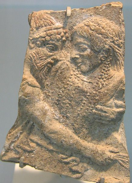 Fragment of Terracotta Depicting Hades abducting Persephone.