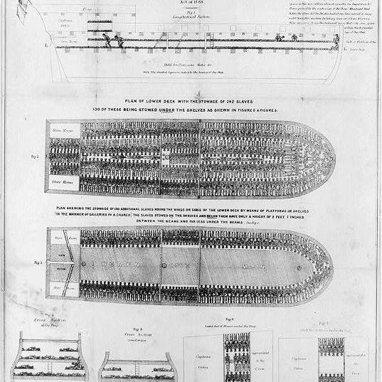 Diagram of the Slave Ship Brookes