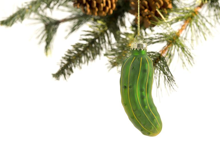 Pickle Ornament on Christmas Tree