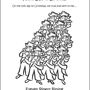 12 Days Of Christmas Hawaiian Style.Make Your Own The Twelve Days Of Christmas Coloring Book