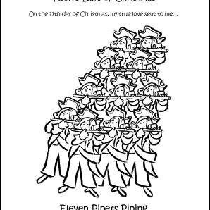 12 Days Of Christmas Song Lyrics Printable.Make Your Own The Twelve Days Of Christmas Coloring Book