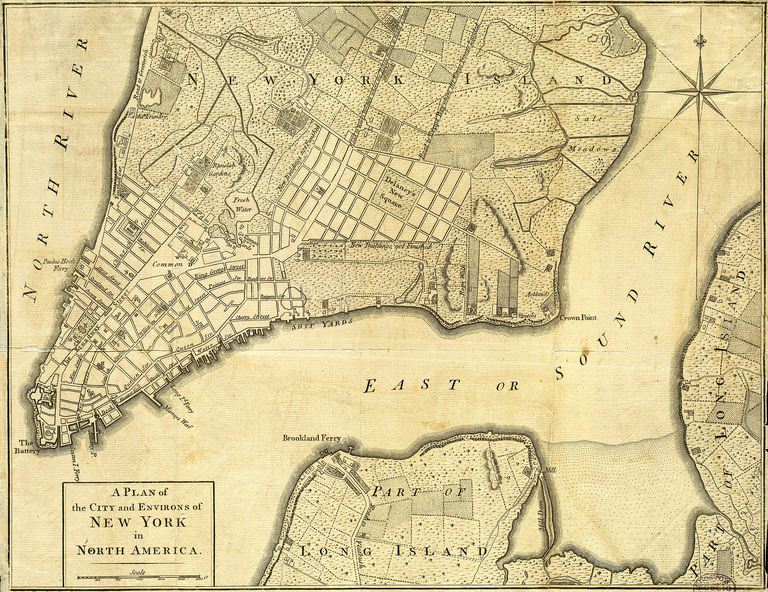 New York Map, 1776